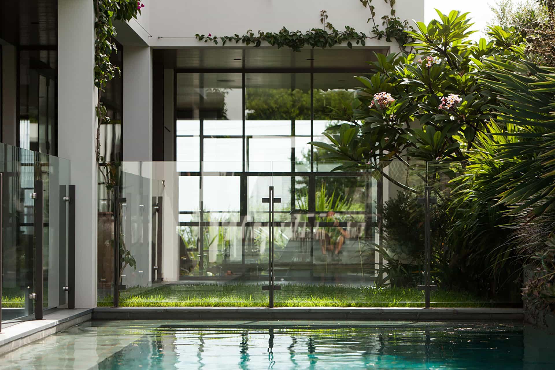 light-filled garden house