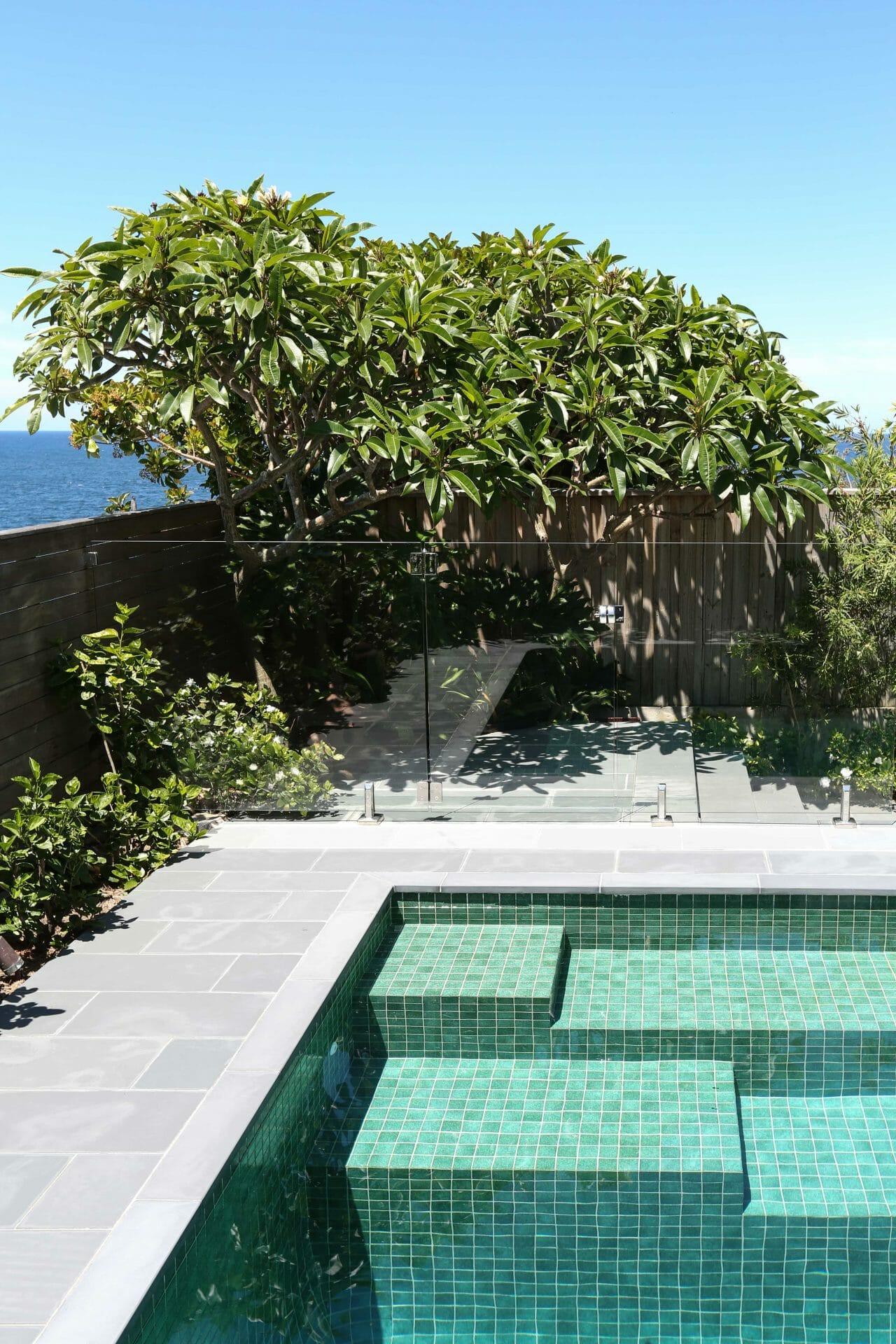 Garden Pool with Ocean Views