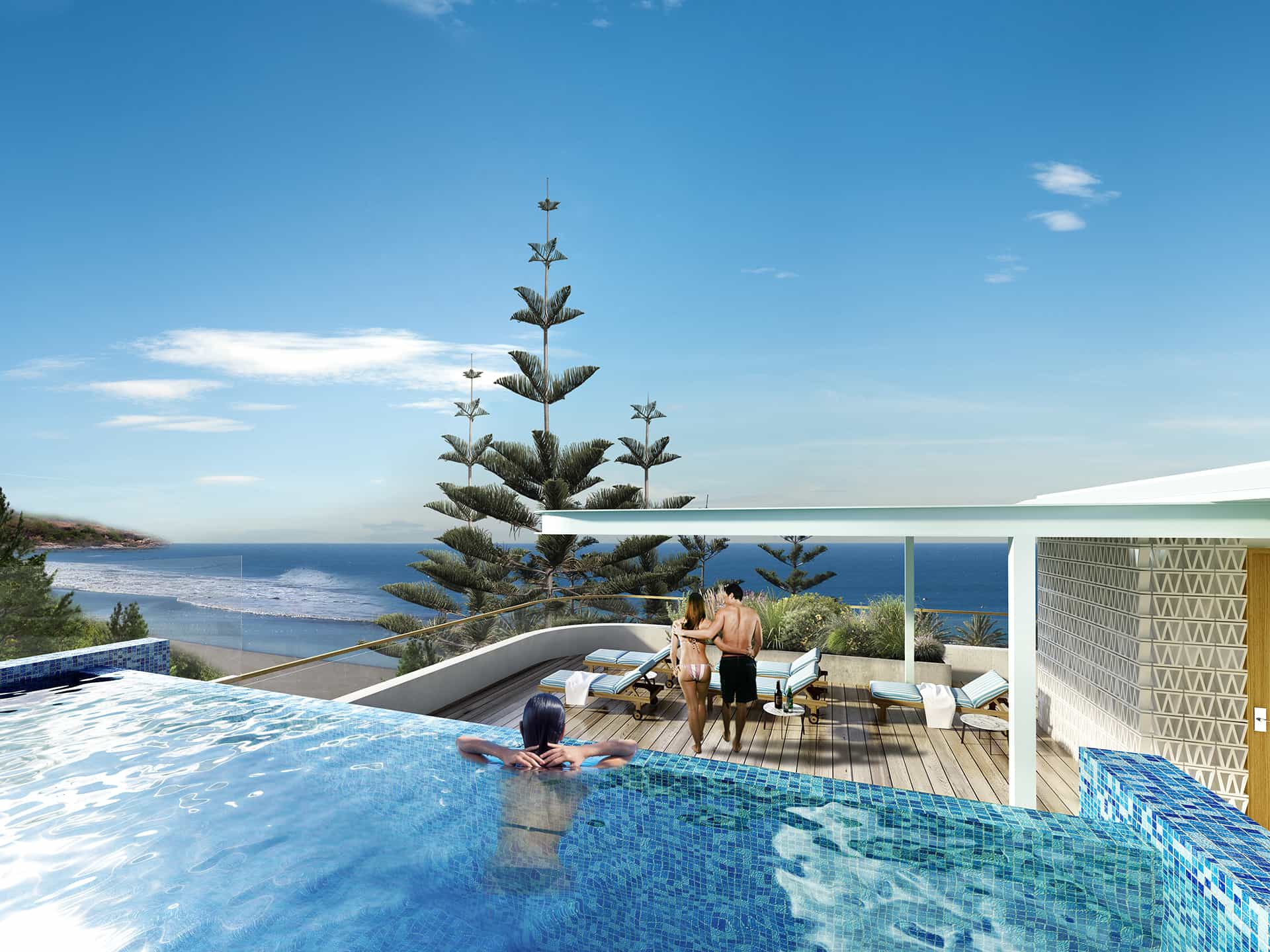 Surf hotel design king for Pool builders yamba