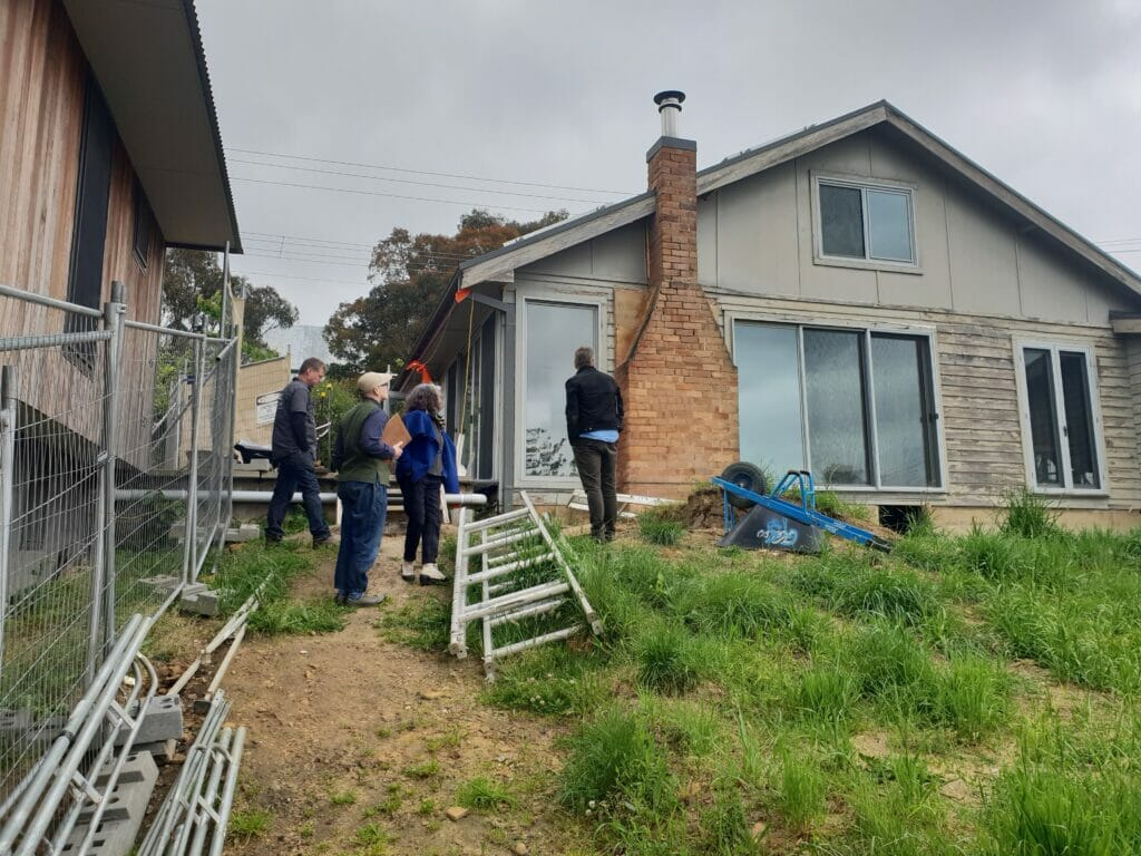 Site visit for Blue Mountains architectural renovation